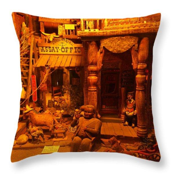 Tinkertown Throw Pillow by Jeff Swan