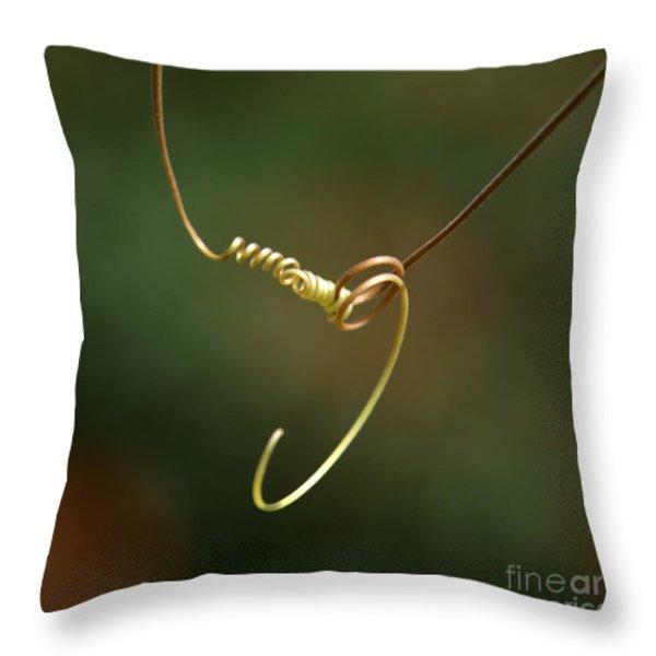 Tiny Spiral Curl Throw Pillow by Sabrina L Ryan