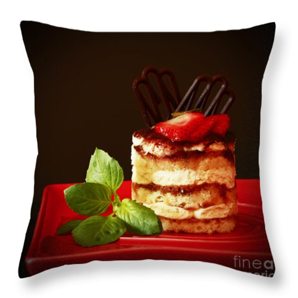 Tiramisu Dessert Passion Throw Pillow by Inspired Nature Photography By Shelley Myke
