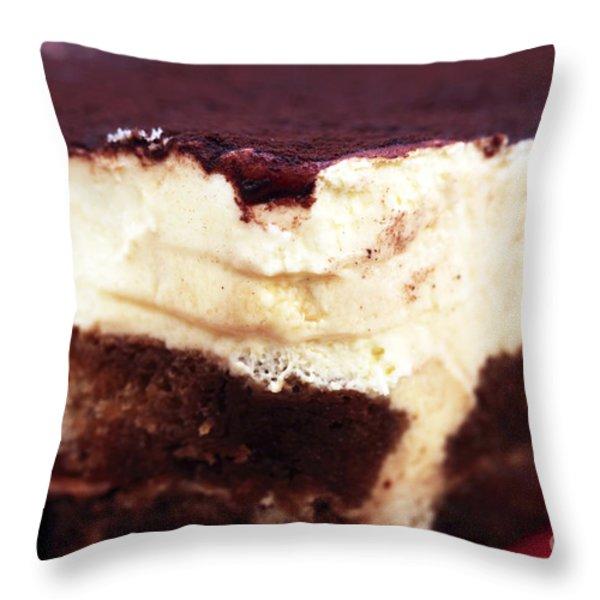 Tiramisu Throw Pillow by John Rizzuto