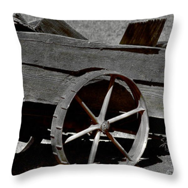 Tired Wagon Throw Pillow by Cheryl Young