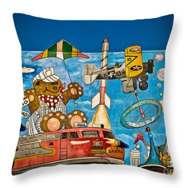 To Be Young Again Throw Pillow by Colleen Kammerer