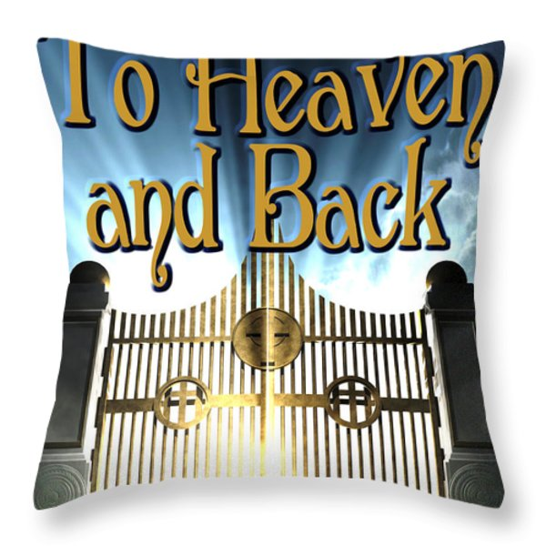 To Heaven And Back Book Cover Throw Pillow by Mike Nellums