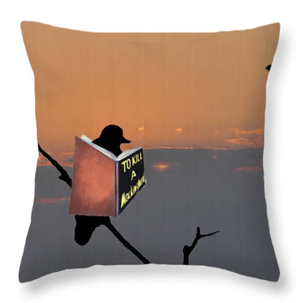To Kill A Mockingbird Throw Pillow by Bill Cannon