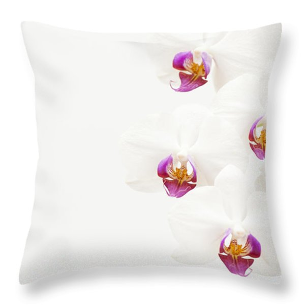 To One Side Throw Pillow by Anne Gilbert