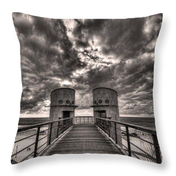 To The Bridge Throw Pillow by Ron Shoshani