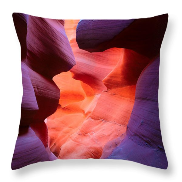 To the Center of the Earth Throw Pillow by Inge Johnsson