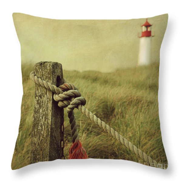 To The Lighthouse Throw Pillow by Hannes Cmarits