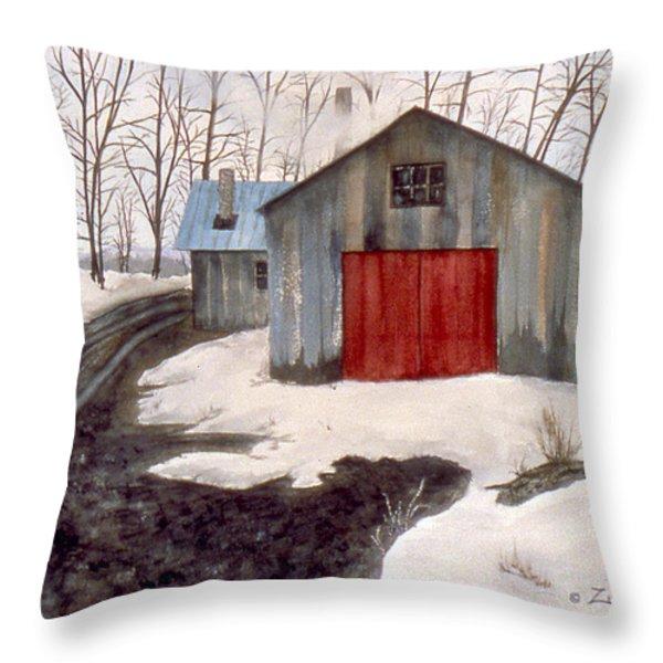 To The Sugar House Throw Pillow by Karen Zuk Rosenblatt