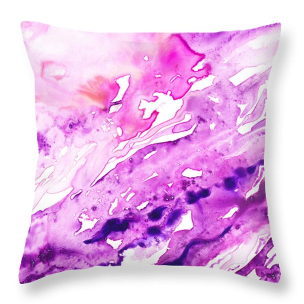 To The Unknown Abstract Path Number Seven Throw Pillow by Irina Sztukowski