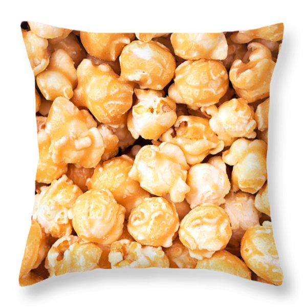 Toffee popcorn Throw Pillow by Jane Rix