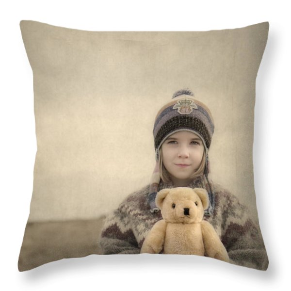 Together They Dream Into The Evening Throw Pillow by Evelina Kremsdorf