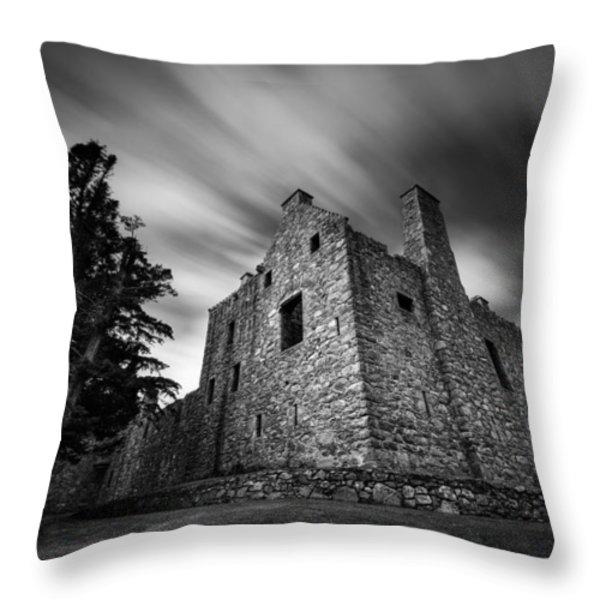 Tolquhon Castle Throw Pillow by Dave Bowman