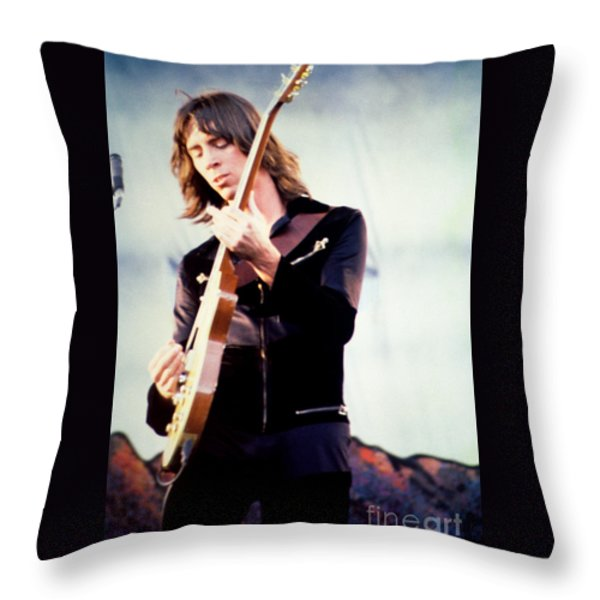 Tom Scholz of Boston-Day on the Green 1 in Oakland Ca 5-6-79 1st Release Throw Pillow by Daniel Larsen