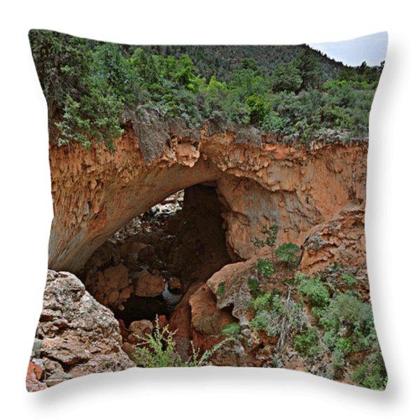Tonto Natural Bridge Arizona Throw Pillow by Christine Till