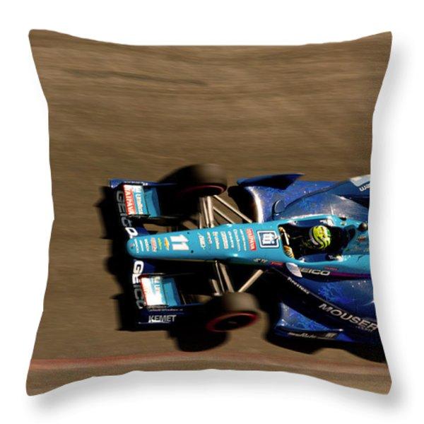 Tony Kanaan Throw Pillow by Denise Dube