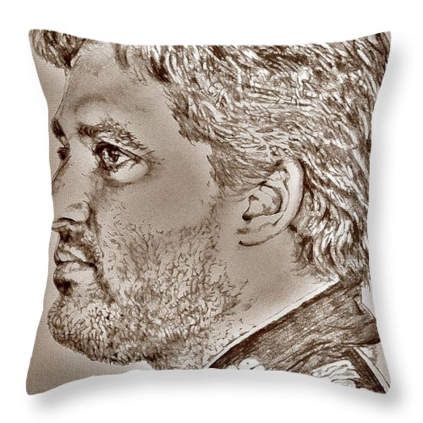 Tony Stewart in 2011 Throw Pillow by J McCombie