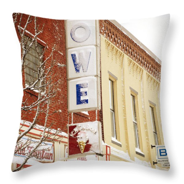 Too Cold For Ice Cream - Spring - Snow Storm - Weather 3 Throw Pillow by Andee Design