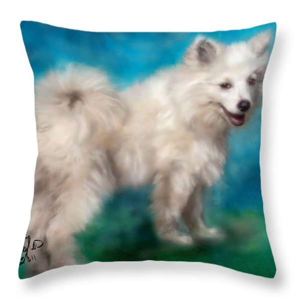 Too Sexy For My Fur Throw Pillow by Colleen Taylor