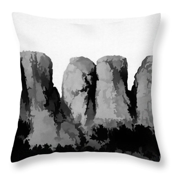 Tooth of the Horse Throw Pillow by Jon Burch Photography