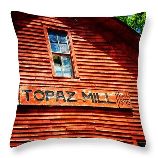 Topaz Throw Pillow by Marty Koch