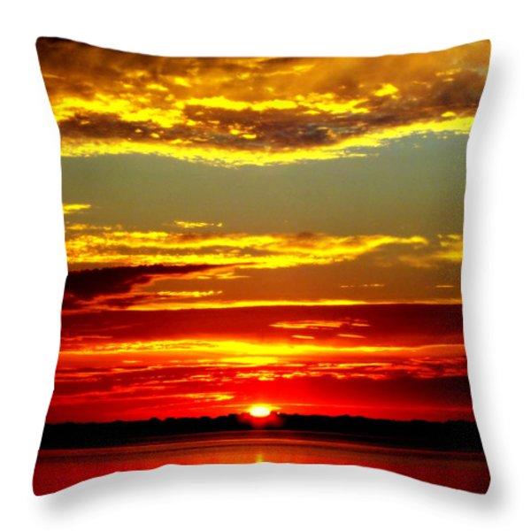 TOPSAIL ISLAND Throw Pillow by KAREN WILES