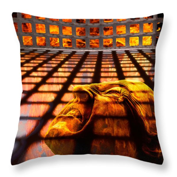 Tormented Soul Throw Pillow by Tom Mc Nemar