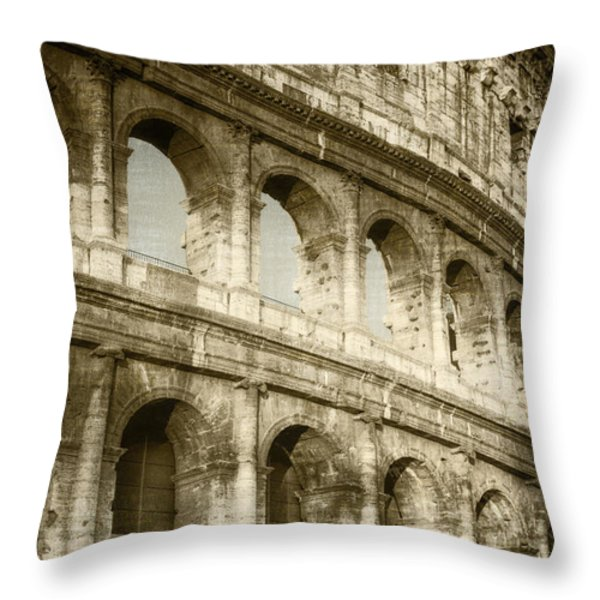 Torn From The Pages Throw Pillow by Joan Carroll