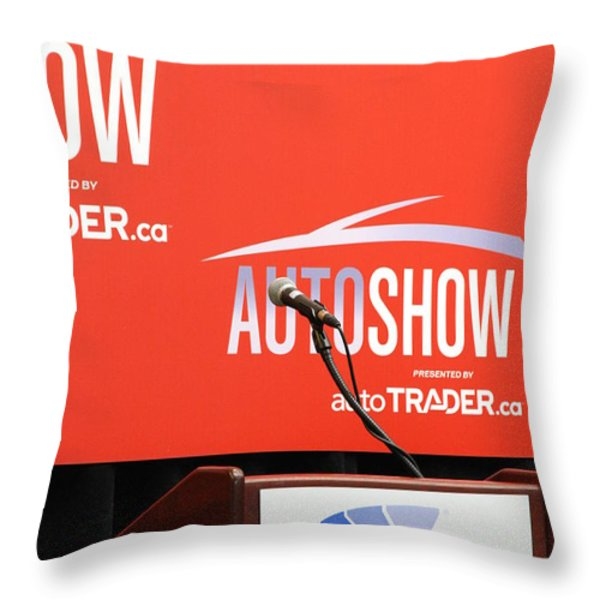 Toronto Autoshow Throw Pillow by Valentino Visentini