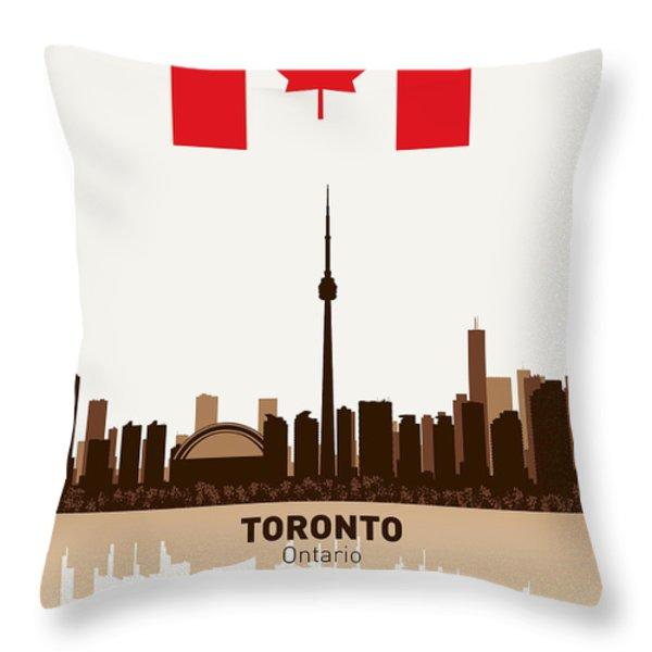 Toronto Ontario Canada Throw Pillow by Daniel Hagerman