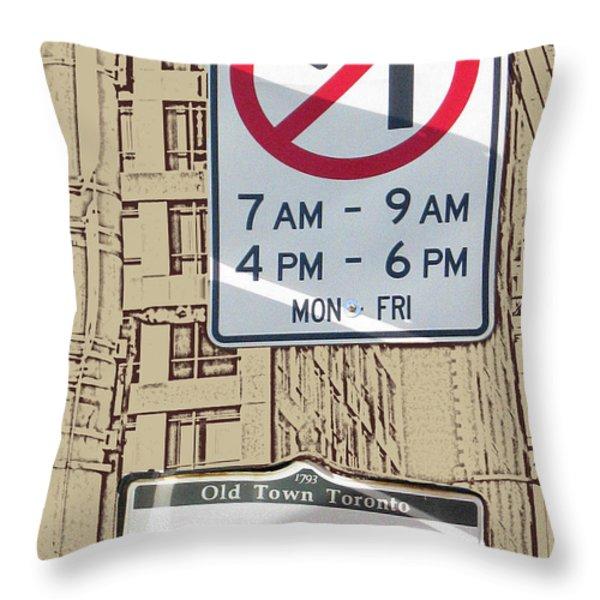Toronto Street Sign Throw Pillow by Nina Silver