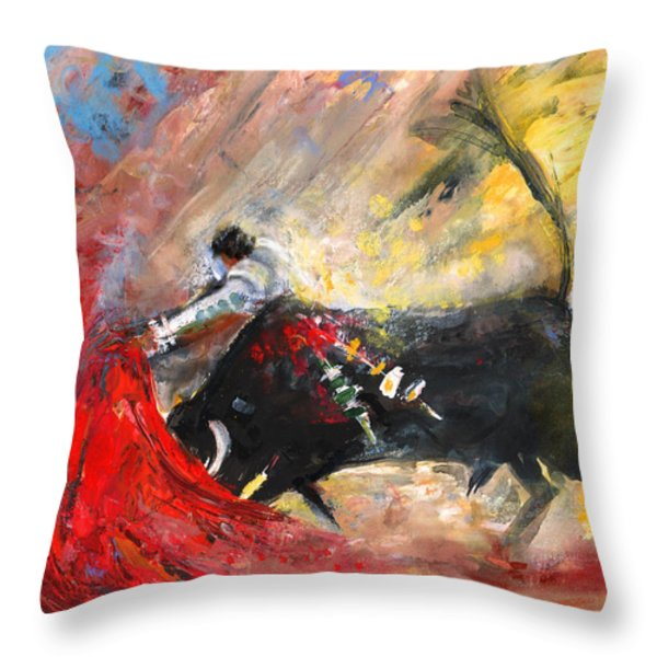 Toroscape 46 Throw Pillow by Miki De Goodaboom