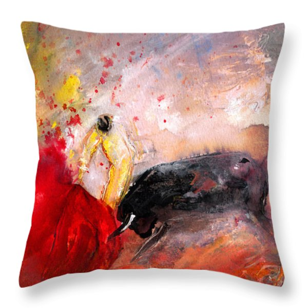 Toroscape 48 Throw Pillow by Miki De Goodaboom
