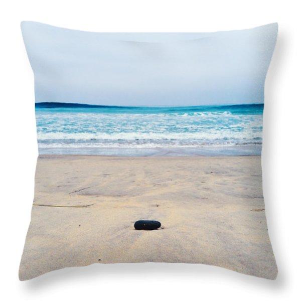 Torrey Pines Beach Throw Pillow by Tanya Harrison