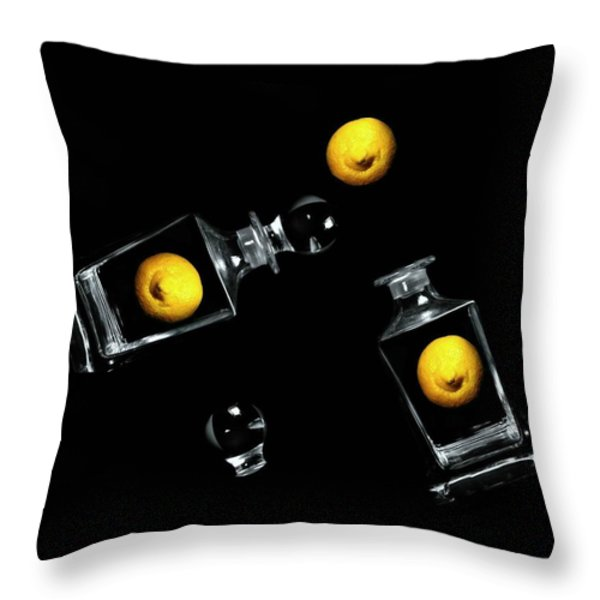 Toss Me a Lemon Throw Pillow by Diana Angstadt