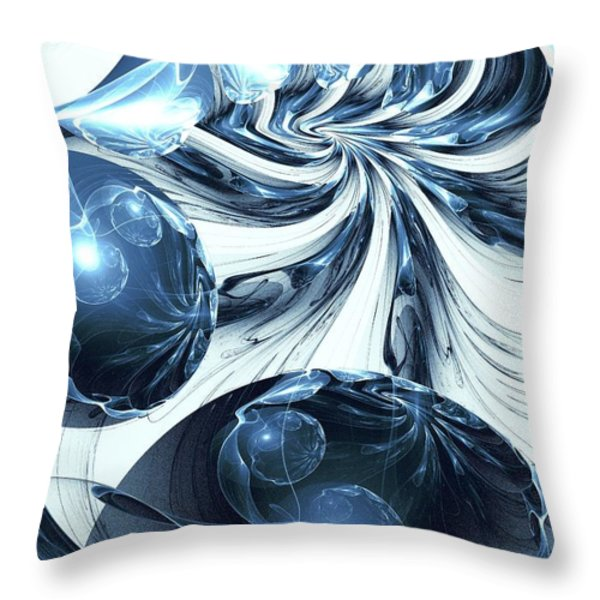 Total Internal Reflection Throw Pillow by Anastasiya Malakhova