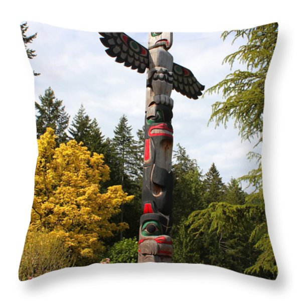 Totem Pole  Throw Pillow by Carol Groenen