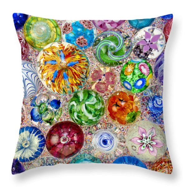 Touch Of Glass Throw Pillow by Carole Gordon