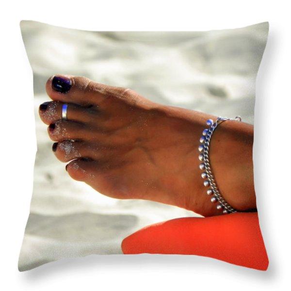 Touch Of Sun Throw Pillow by Karen Wiles