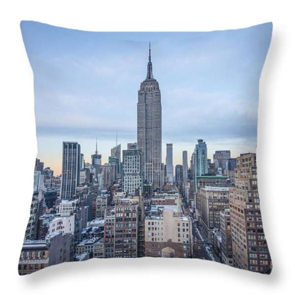 Touch The Sky Throw Pillow by Evelina Kremsdorf