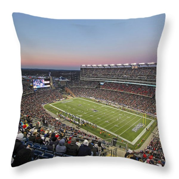 Touchdown New England Patriots  Throw Pillow by Juergen Roth