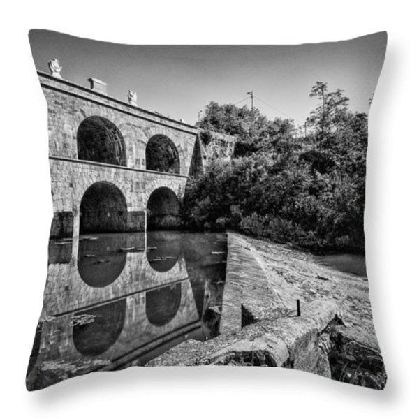 Tounj Bridge Throw Pillow by Davorin Mance