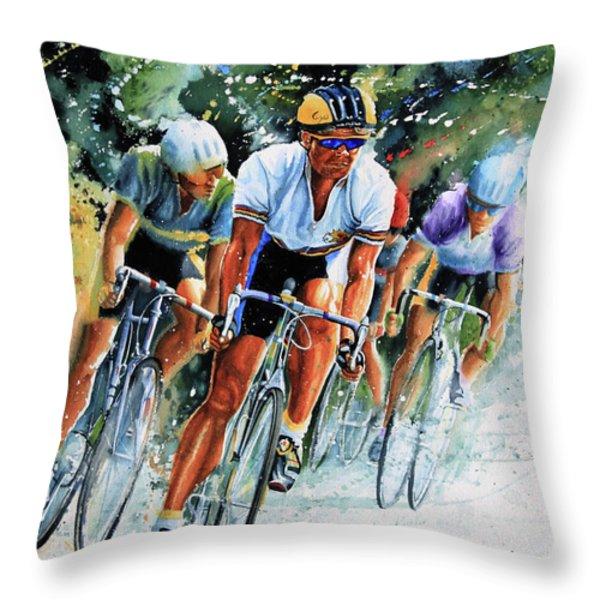 Tour de Force Throw Pillow by Hanne Lore Koehler