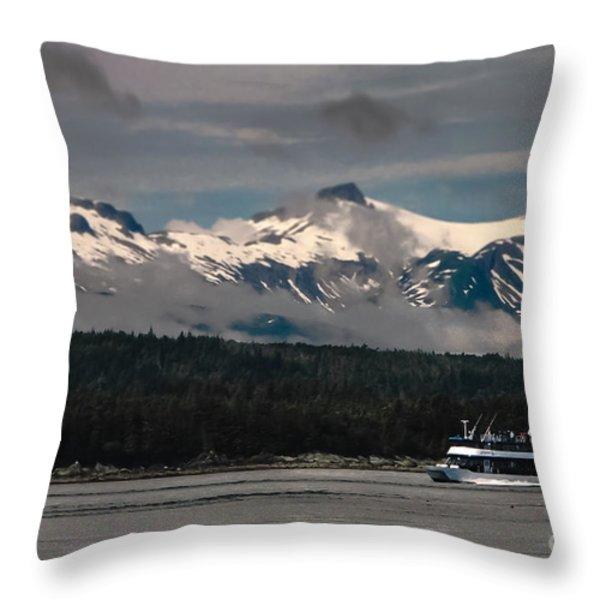 Touring Alaska Throw Pillow by Robert Bales