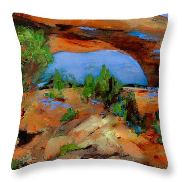 Toward The Arch  Throw Pillow by Elise Palmigiani