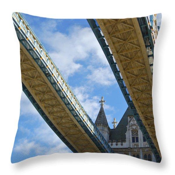 Tower Bridge Throw Pillow by Christi Kraft
