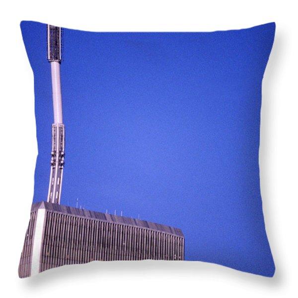 Tower One Throw Pillow by Jon Neidert