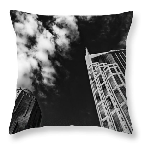 Tower Up Throw Pillow by CJ Schmit