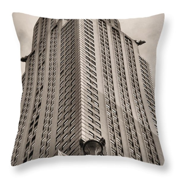Towering BW Throw Pillow by JC Findley