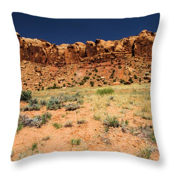 Towers To The Needles Throw Pillow by Adam Jewell